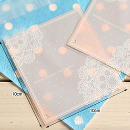 Пакетики для печенья розовые 100шт. 10 * 10см