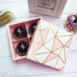 Коробка Золотая геометрия (с дефектом) 17 * 17 * 5,2см