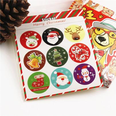 Новогодние наклейки на коробку ободок с заколками для прядей купить в москве