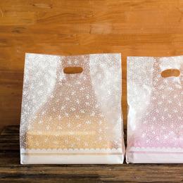 Пакет под коробку Цветочки 10шт. 36 * 23см
