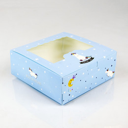 Коробки с окном Единорог 13,5 * 13,5 * 5см