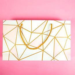 Пакет Розовая геометрия (с дефектом) 32,5 * 19 * 6см