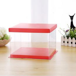 Коробка под торт красная 22 * 22 * 16см