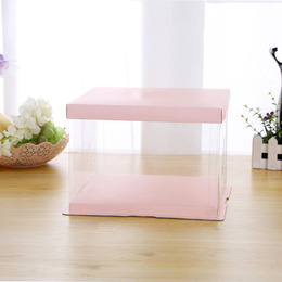 Коробка под торт розовая 30,5 * 30,5 * 34см