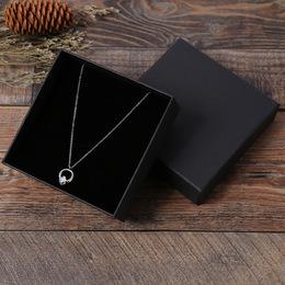Коробка плотная черная  9,5 * 9,5 * 3см