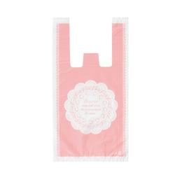 Пакет с ручной розовый 10шт 35 * 18 * 5см