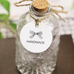 Бирки Handmade круглая с бантом 10шт 4,3 * 4,3см