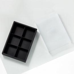 Коробка-пенал черный прозрачный 23,5 * 16,5 * 5см