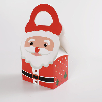Коробка с ручкой Санта 18 * 9 * 6см