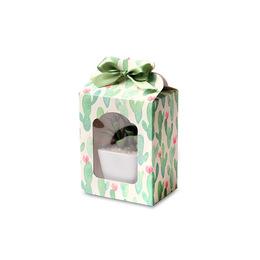 Коробка с окном кактус 12 * 9,5 * 7см