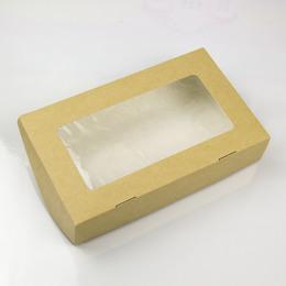 Коробка крафт с окном (с дефектом) 20 * 12 * 4см