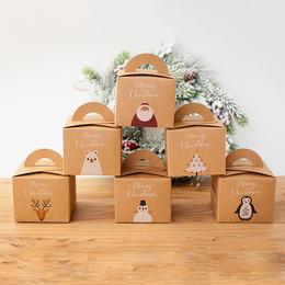 Коробка-подарок крафт 9,5 * 9,5 * 8см