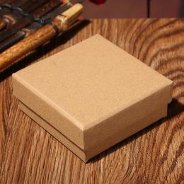 Коробка плотная крафт (с дефектом) 9,5 * 9,5 * 3,2см