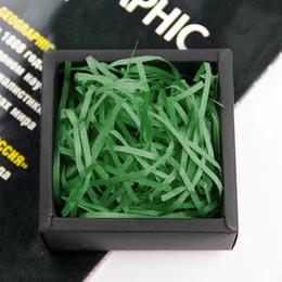 Бумажный наполнитель зеленый 100г. 28 * 20см