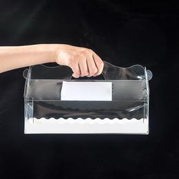 Коробка прозрачная под рулет 27,5 * 10,5 * 7,5см