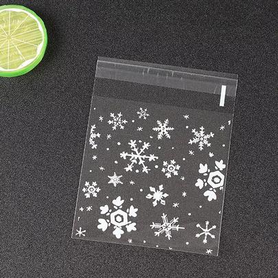 Пакетики Снежинки 100шт 7 * 7см