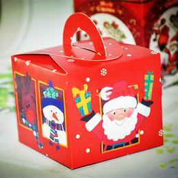 Коробка с ручкой Подарки (с дефектом) 9,5 * 9,5 * 8см