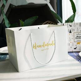 Пакет белый Handmade (с дефектом) 25 * 17 * 17,5см