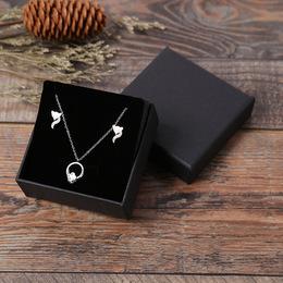 Коробка плотная черная (с дефектом) 8 * 8 * 3см