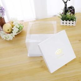 Коробка под торт HB белая (с дефектом) 22 * 22 * 16см