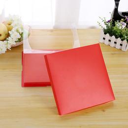 Коробка под торт красная (с дефектом) 22 * 22 * 16см