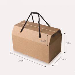 Коробка-пакет Крафт (c дефектом) 20 * 15,5 * 10см