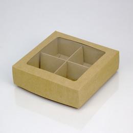 Коробка на 4 ячейки 12,6 * 12,6 * 3,5см