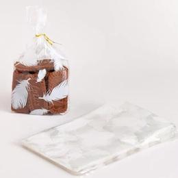 Пакет прозрачный с перьями 100 шт. 13 * 21 * 5см