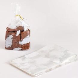 Пакет прозрачный с перьями 100шт. 13 * 21 * 5см