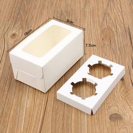 Коробка с окном на 2 кекса 16 * 9 * 7,5см