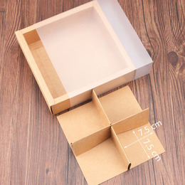 Коробка-пенал крафт прозрачный 17 * 17 * 5см
