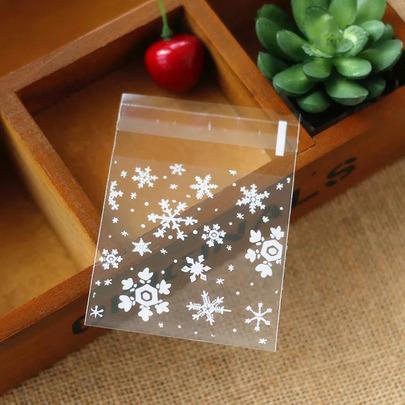 Пакетики Снежинки 100шт 10 * 10см