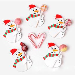 Декоративные накладки 50шт Снеговик 8,5 * 6см