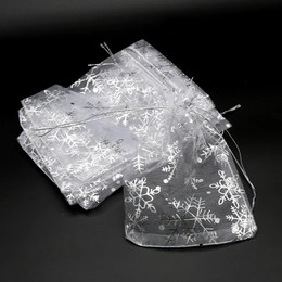 Пакет органза Снежинки 50шт 7 * 9см