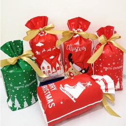 Пакеты на завязке Новогодние 50шт 23 * 15см