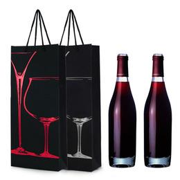 "Пакет для вина ""Бокалы"" на 2 бутылки 35 * 17,5 * 8см"