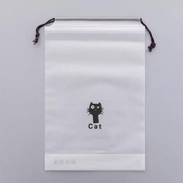 Пакет на завязке Черный Кот 10шт 21*16см