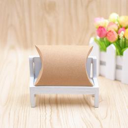Коробка-подушка крафт (с дефектом) 15 * 8 * 4см