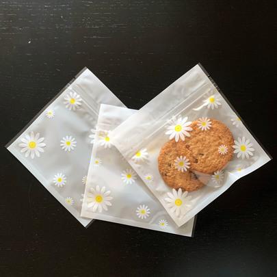Пакет прозрачный с ромашками 10шт 13 * 13см