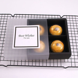 Коробка-пенал черный прозрачный 16 * 16 * 5см