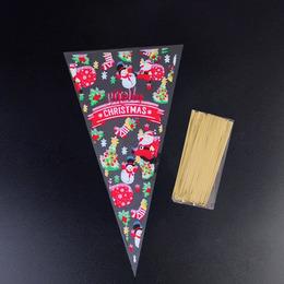 Пакеты-конусы Праздник 100шт 30 * 16см