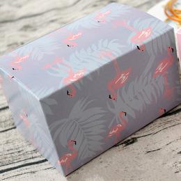 Коробка фиолетовая Фламинго 15 * 10 * 9см