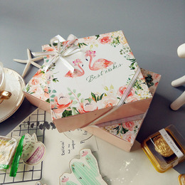 Коробка Фламинго Best Wishes 14 * 14 * 5см