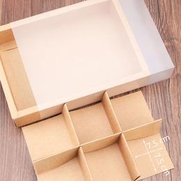 Коробка-пенал крафт прозрачный 24 * 17 * 5см